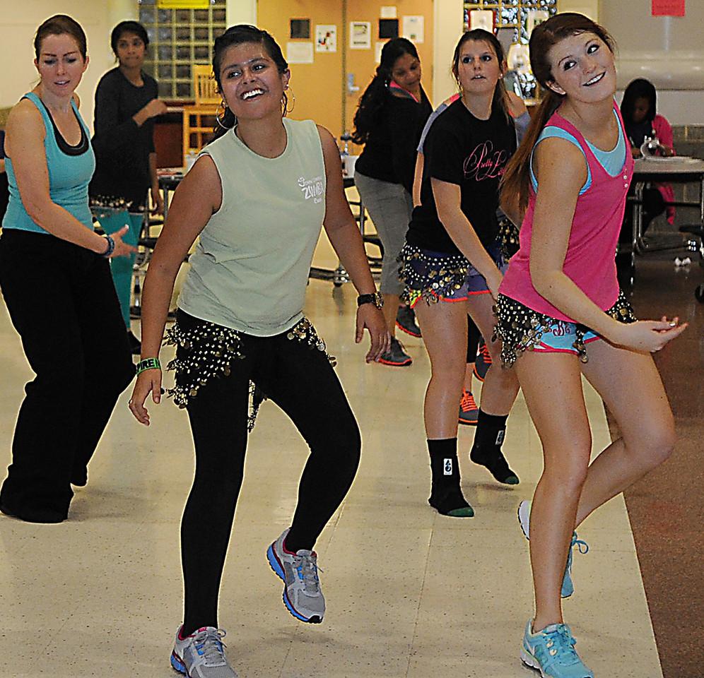 Mauldin High School held a Zumbathon Dance Party at the school which, was part of Spirit Week.<br /> GWINN DAVIS PHOTOS<br /> gwinndavisphotos.com (website)<br /> (864) 915-0411 (cell)<br /> gwinndavis@gmail.com  (e-mail) <br /> Gwinn Davis (FaceBook)
