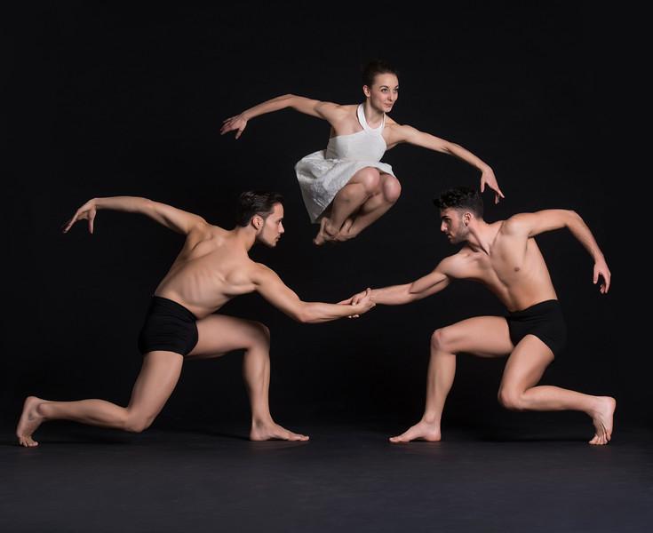 Dancers: Alessio Crognale, Anne Souder, and Antonio Cangiano, Martha Graham Dance Company