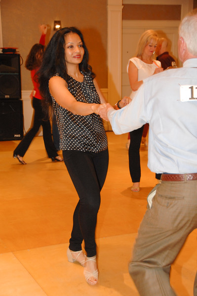 Marsha DeSouza dancing at Swinging Into Spring 2016