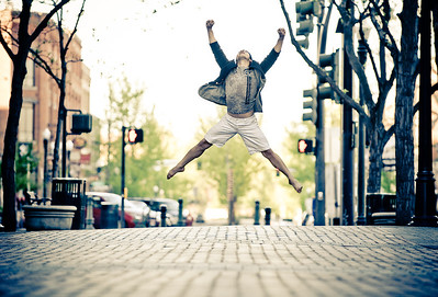 Portrait of Gonzalo, dancer in downtown Boise. Photo by Mike Reid.