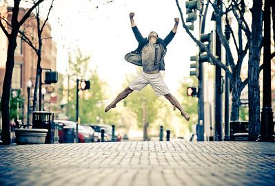 Portrait of Gonzalo, dancer in downtown Boise. Photo by Mike Reid.