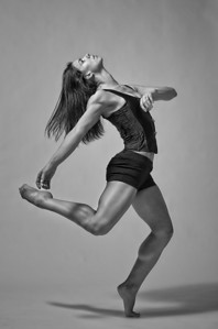 Dance portrait of Katie Ponozzo. Beautiful Boise Dancer. Image by Mike Reid, All Outdoor Photography.