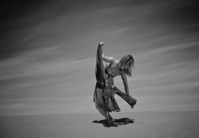 Katie Ponozzo at the Bruneau Sand Dunes, near Boise. By Mike Reid-All Outdoor Photography.