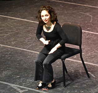 "Jose Quezada — For Times-Standard Marina Lopez performs a sitting tap dance during her rendition of Sandy Silvia's ""Hangman's Reel""."