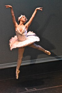 """Jose Quezada — For Times-Standard Isabella Buckman performs a """"White Swan Variation"""" dance choreographed by Marius Petipa"""
