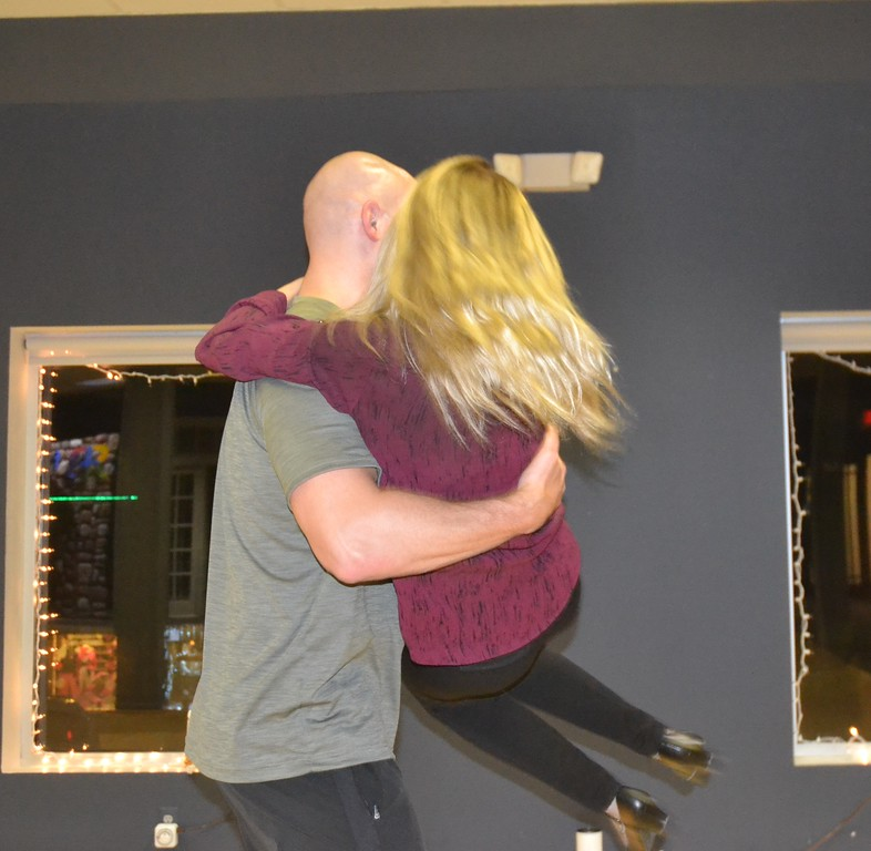". Danielle Watko, professional dancer and instructor at the Rochester Ballroom, rehearses with Stephen Kramer, a sergeant with the Oakland County Sheriff\'s Office and a contestant in a local version of ""Dancing with the Stars.\"" Anne Runkle/The Oakland Press"