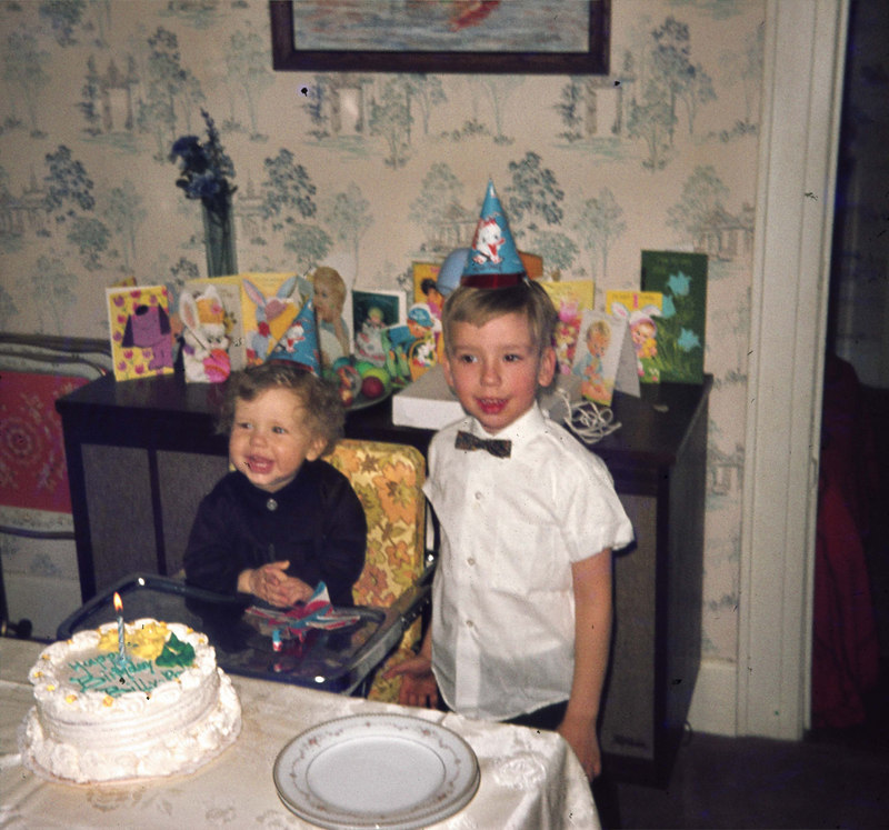 March 29, 1970  Billy's 1st birthday with David