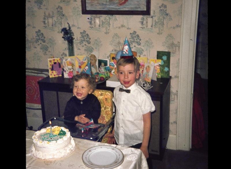 March 29, 1970  Billy's 1st birthday with David