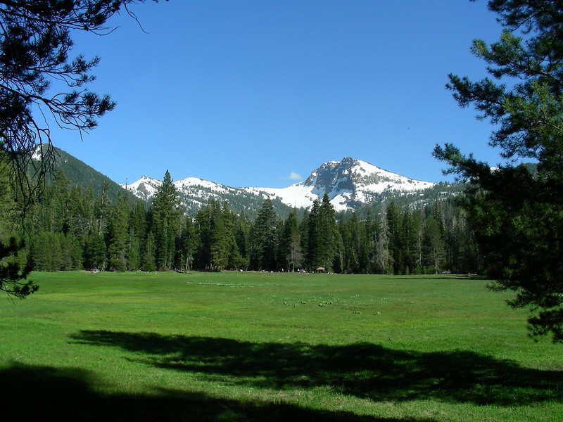 Brokeoff Mountain with Brokeoff Meadows campground   May 23, 2009