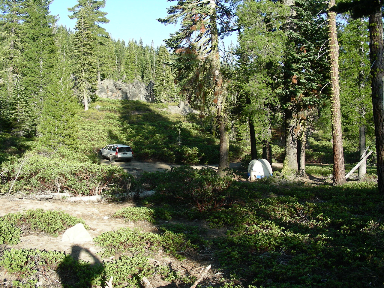 Campsite 1 | West side of Loomis Peak off Brokeoff Meadows road | May 23, 2009