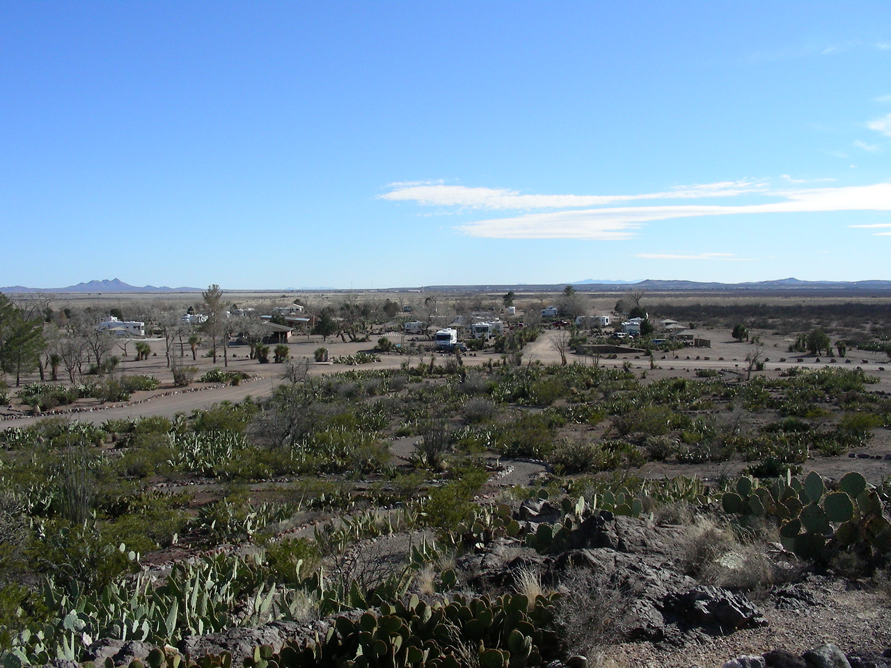 View South to Mexico | Pancho Villa State Park, Columbus, New Mexico | 2/6/2010