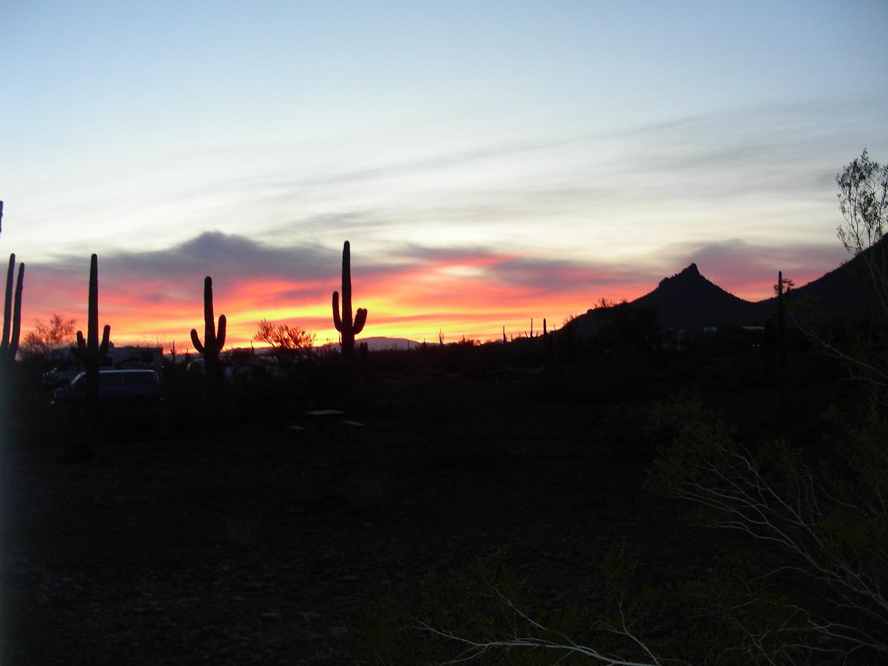 Sunrise at campground | E Picacho Peak State Park | Picacho, Arizona | 2/2/2010