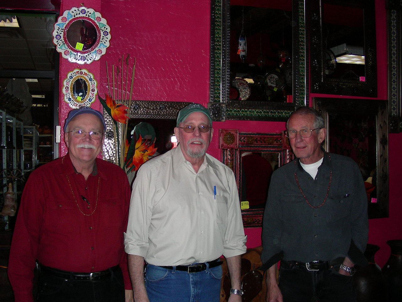 Bob, Bruce and Dale, the owner's of Issac's in Silver City at The Pink Store, Las Palomas | 2/12/2010