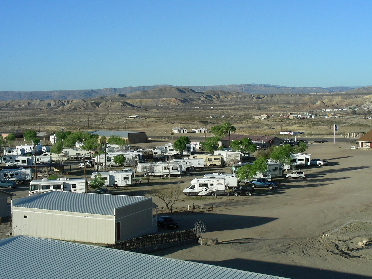 Morning view of Big Bend RV Park, Terlingua, Texas  | 3/8/2010