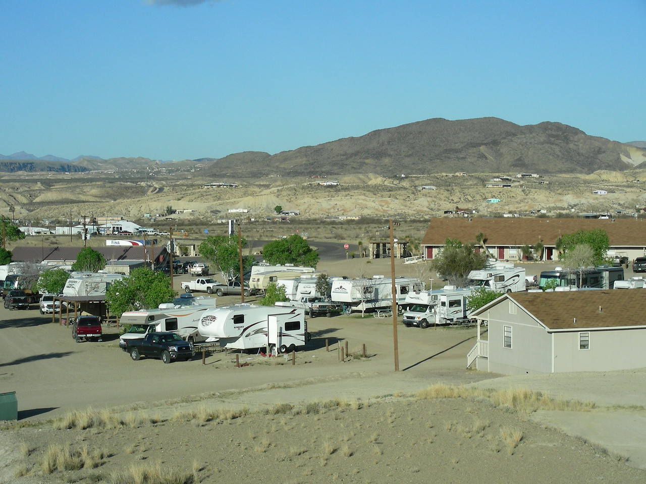 Morning view of Big Bend RV Park, Terlingua, Texas  | 3/8/2010