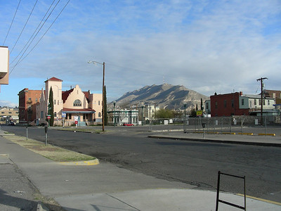 View North to Franklin Mountain from El Paso behind the San Antonio Mining Company | 3/7/2010