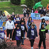 John Strickler - Digital First Media<br /> Daniel Boone special education students along with staff walk a lap around the track at the high school stadium during the district wide Special Olympic games held Monday.