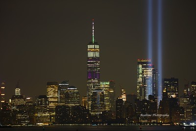 9/11 Tribute Lights - Bayonne, NJ - 9/11/2019