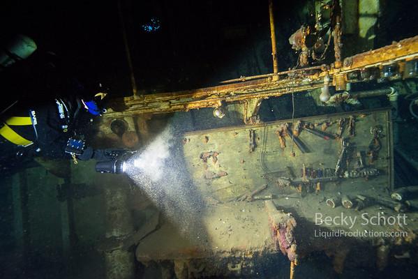 Tool bench inside the ship - Lake Huron