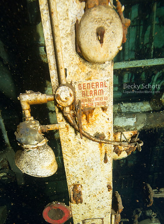 General Alarm inside the shipwrecks engine room