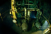 Great Lakes Freighter engine room underwater