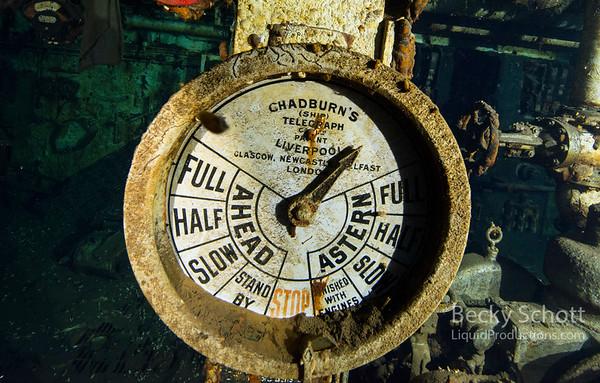 Telegraph underwater at 205ft