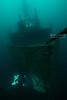 Morrell bow with ccr diver illuminating anchor