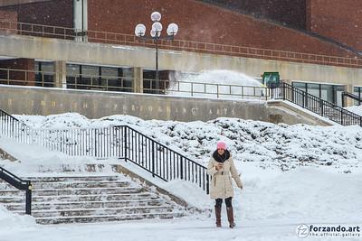 Krannert Center in the Snow