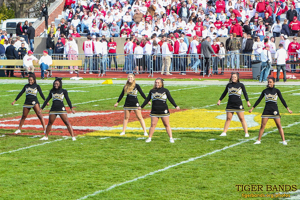 DePauw Cheerleaders at the Battle for the Monon Bell