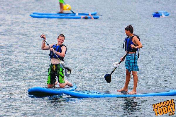 Paddle Boarding on Lake Goodrich