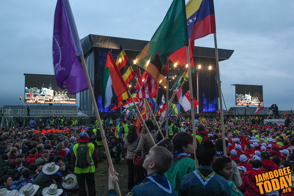 Presenting the Colors at the 2011 World Scout Jamboree Opening Arena Show