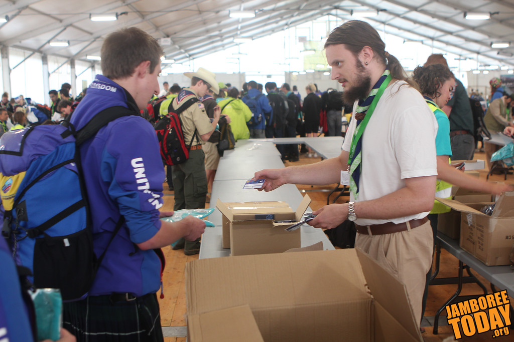 Checking in at the 2011 World Scout Jamboree