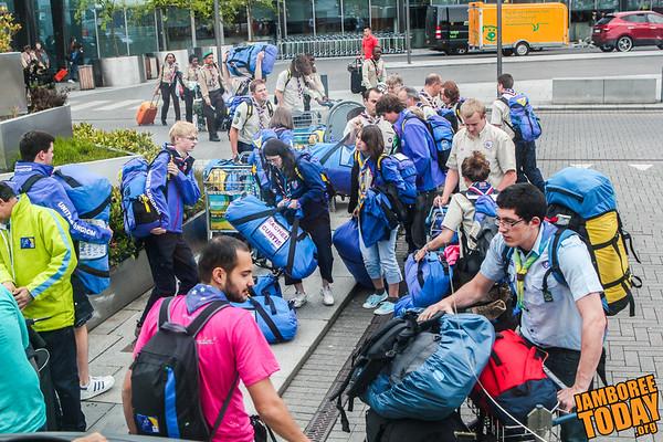 Scouts from near and far land in Copenhagen