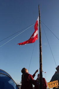 Austrians post their colors
