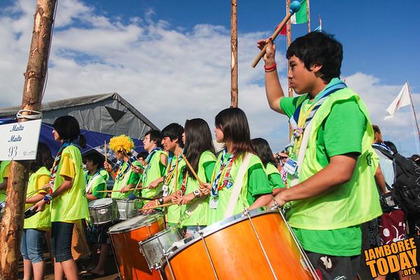Brazilian Scout Drummers