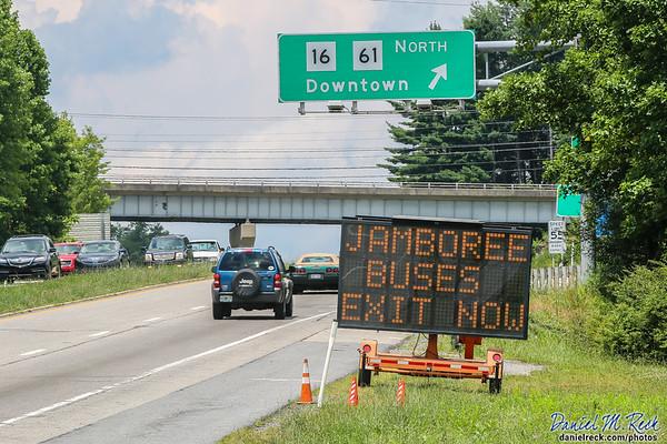 Jamboree Buses Exit Now