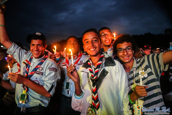 Egyptian Scouts Join in Scouting's Light