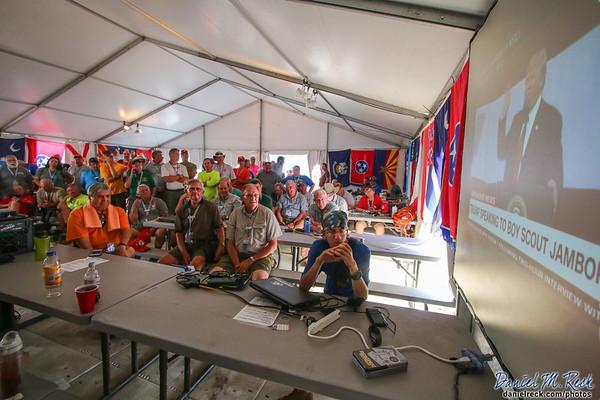 Jamboree Staff Watch President Trump's Address