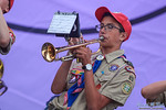 The National Scouts Jamboree Band entertains the Scouts and Venturers at the closing stadium show during the 2017 National Scout Jamboree at the Summit Bechtel Reserve in Glen Jean, West Vir ...