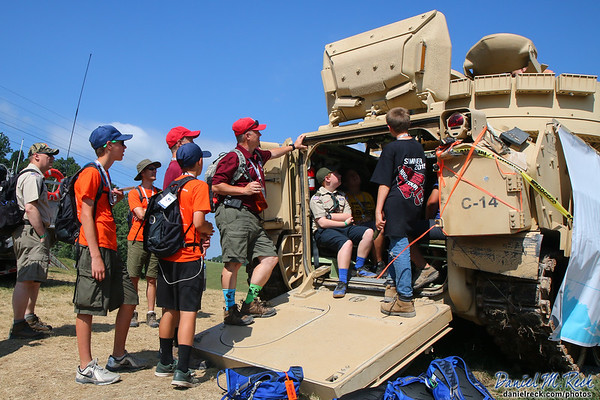 Scouts Tour U.S. Army Vehicles