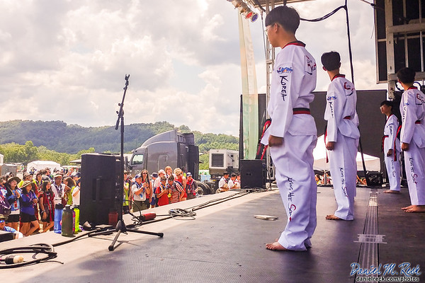 Korean Scouts Demonstrate Their Martial Arts