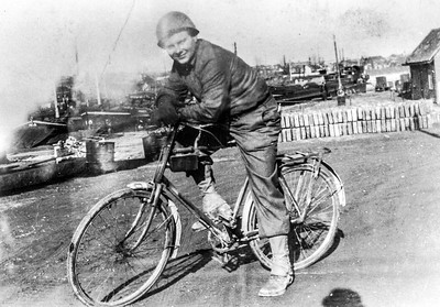 1946 DY on Bike in Army.jpg
