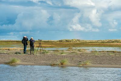 August. - Birders looking for waders, Karsten Klausen og Erik Christophersen - Grenen