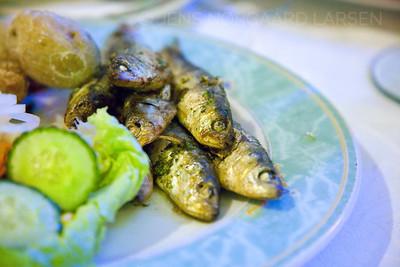 Grillstegte sardiner
