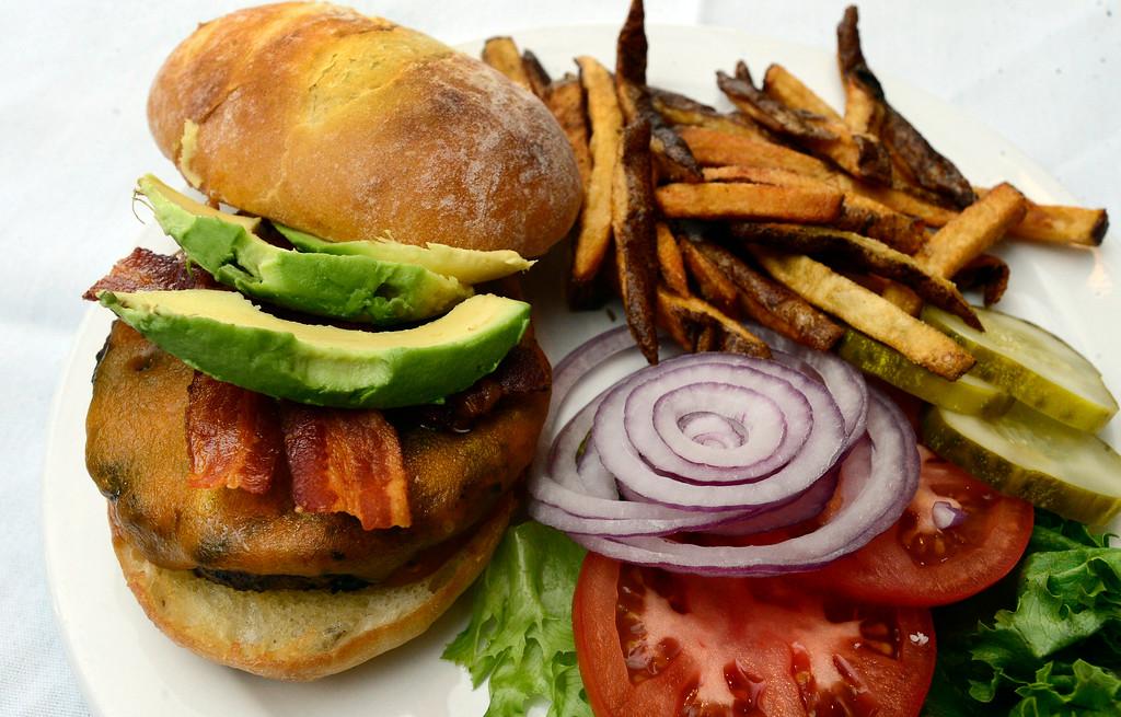 . The California Burger at Dannik�s Gunbarrel Corner Bar. For more photos go to dailycamera.com  Paul Aiken Staff Photographer Nov 28, 2017