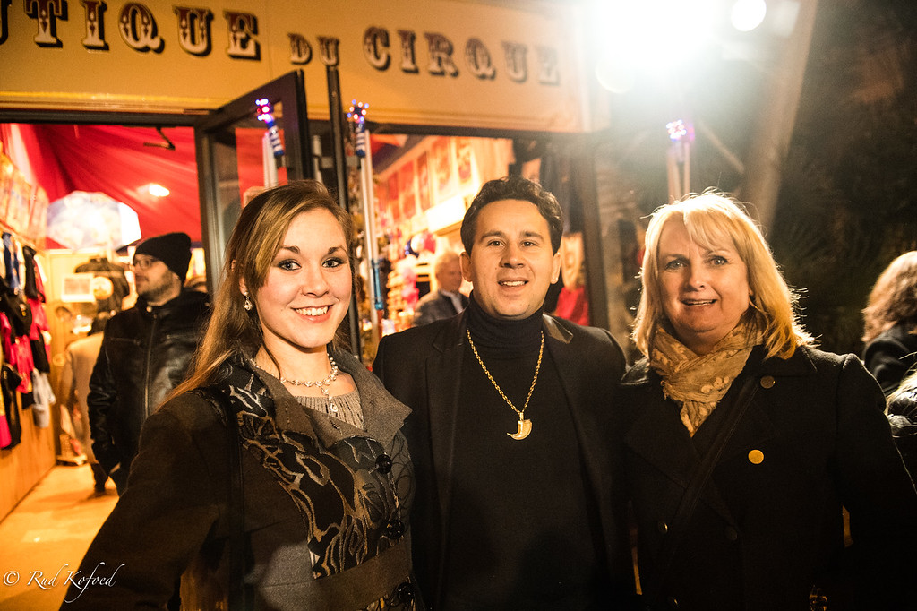 Stéphanie på besøg i Stéphanies Monte-Carlo cirkus
