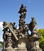 One of many statues on the Charles Bridge.