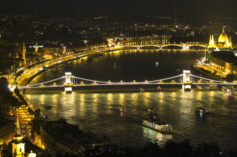The Danube River and the Chain Bridge.