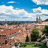 Red roofs over Prague