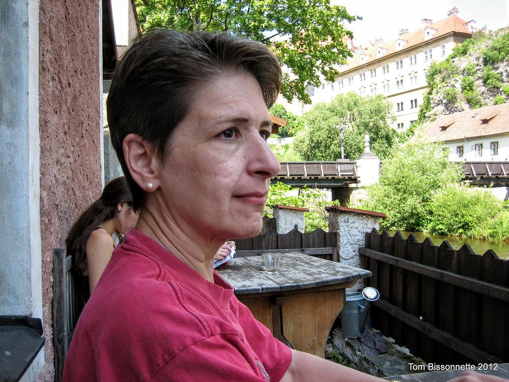 Bette in Cesky Krumlov.